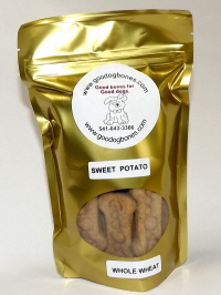 made in the USA  sweet potato pet treats